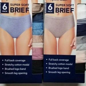 SPLENDID SUPER SOFT BRIEF 6 Pk STRETCHY COTTON MOD